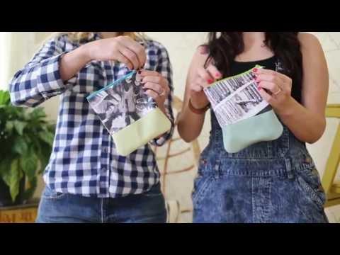 Mini Cotton + Leather Clutch DIY
