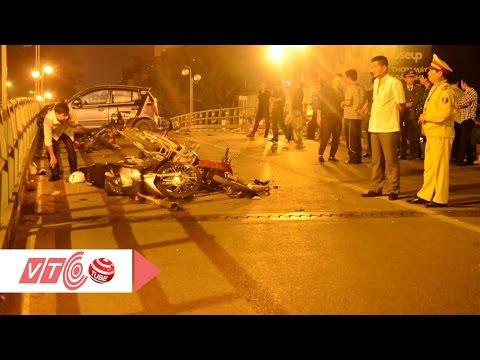 Camera hiện trường vụ taxi 'điên' tại cầu vượt Thái Hà | VTC