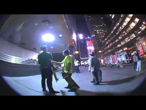 Skaters VS Security Guard (Man Fights Guard for Skaters)