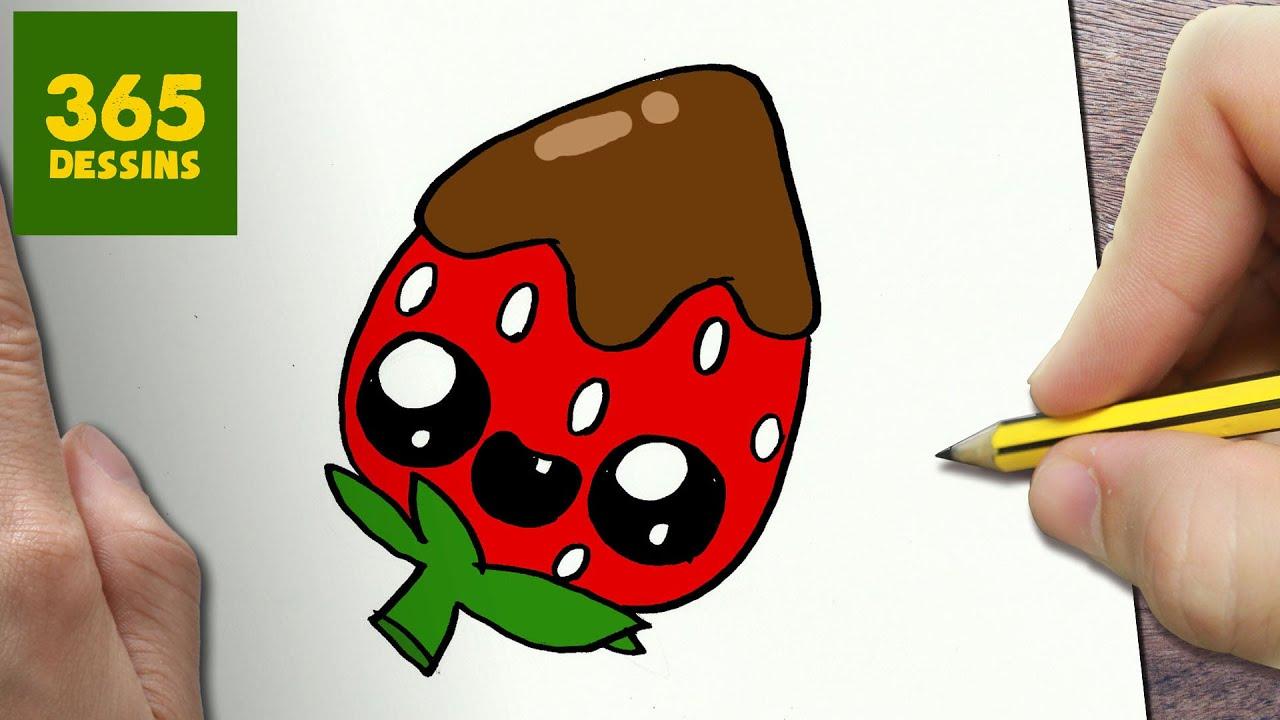 Comment dessiner fraise kawaii tape par tape dessins - Comment dessiner kawaii ...