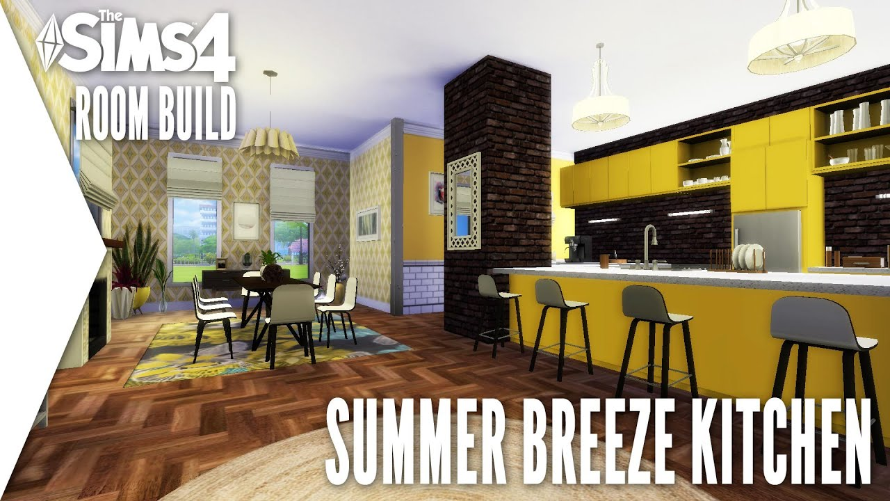 the sims 4 room build 4 summer breeze kitchen youtube