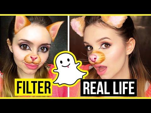REAL LIFE SNAPCHAT FILTER - Cat Filter - Makeup Tutorial
