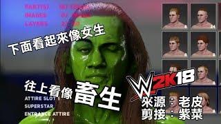 老皮WWE2K18精華 下面是女生,上面是畜生 thumbnail