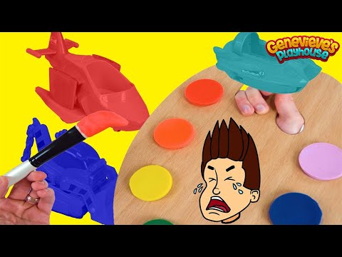 Color Blanked Paw Patrol Wrong Colors Learning for Kids Video Water Rescue Pups Boat Toys!