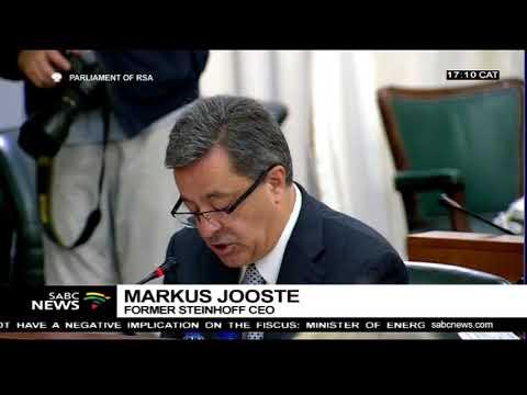 Former Steinhoff CEO Markus Jooste appears before parliament