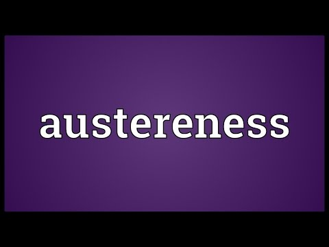 Header of austereness