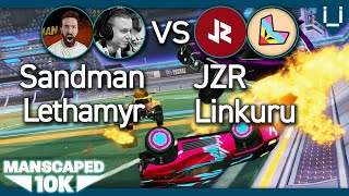 Manscaped 10K | Jonsandman & Lethamyr vs JZR & Linkuru | Rocket League 2v2 Tournament - Series 4