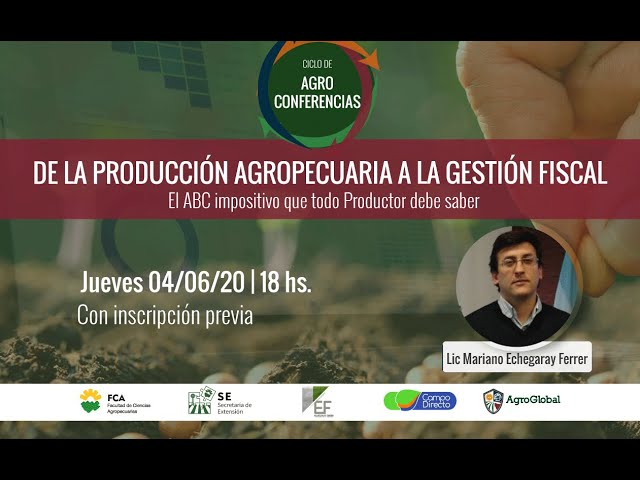 5° Agroconferencia sobre Gestión Fiscal - AgroGlobal