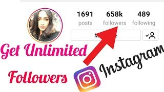 Increase Unlimited real instagram followers & Likes by app in 2018!!