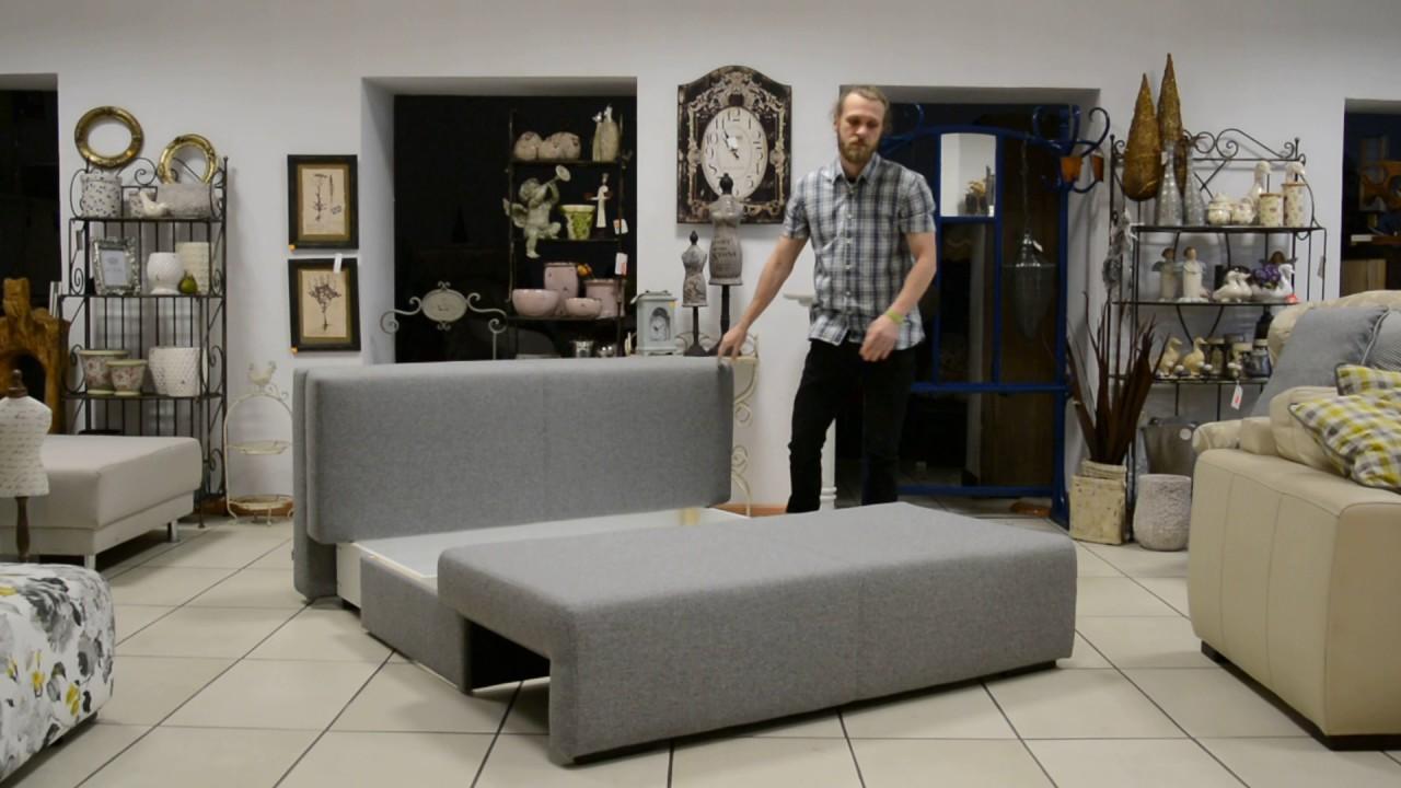 Sofa OKEY 160 rozkładana z pojemnikiem