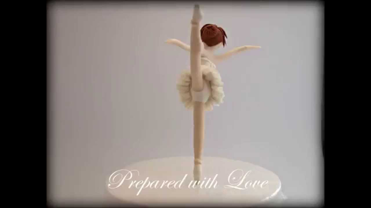 How To Make A Fondant Ballerina Cake Topper
