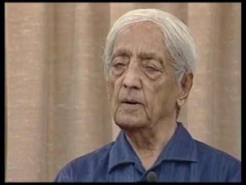 On the difference between observing and thinking about oneself | J. Krishnamurti