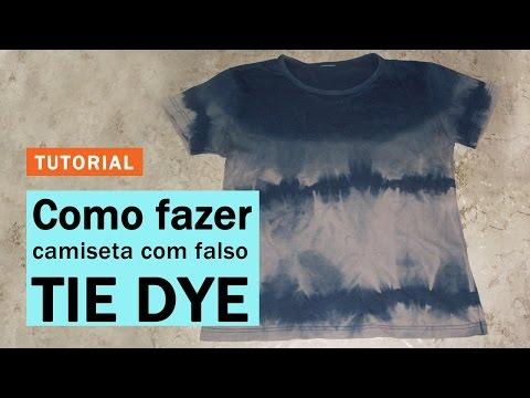 d55ff713f8 Como Fazer Técnica do Falso Tie Dye