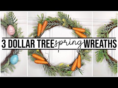 3 Dollar Tree DIY Wreaths for Spring & Easter | Farmhouse Style