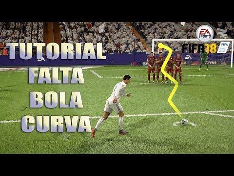 FIFA 18 TUTORIAL - FALTA COM CURVA REVERSA (KNUCKLEBALL FREE KICK)