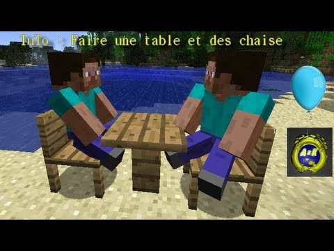 tuto faire des chaise et une table minecraft youtube. Black Bedroom Furniture Sets. Home Design Ideas