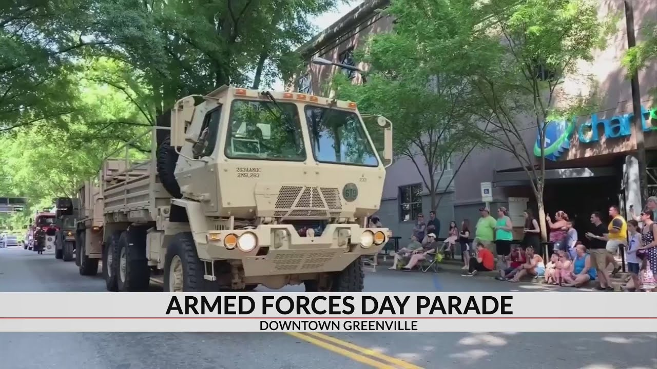Armed Forces Day parade held in downtown Greenville