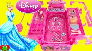 Disney Princess Glam Beauty Case Cinderella, Ariel, Mulan, and Jasmine