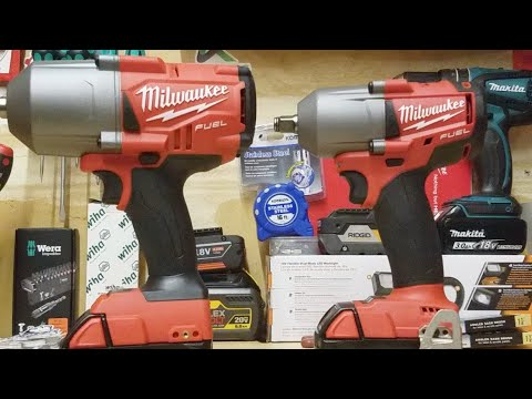 Milwaukee Gen2 High Torque Vs Mid Impact Wrench Size Comparison