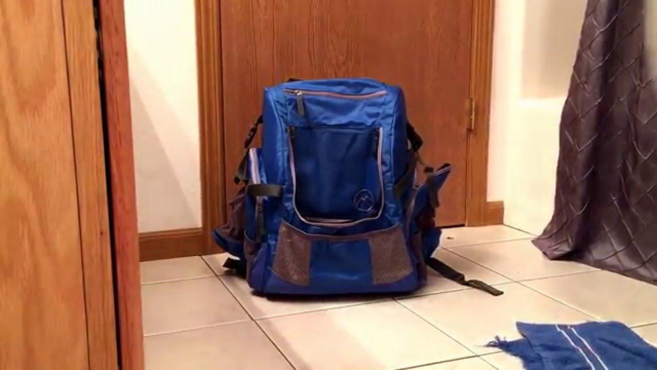 Magellan Disc Golf Backpack Bag Pvc Frame Youtube