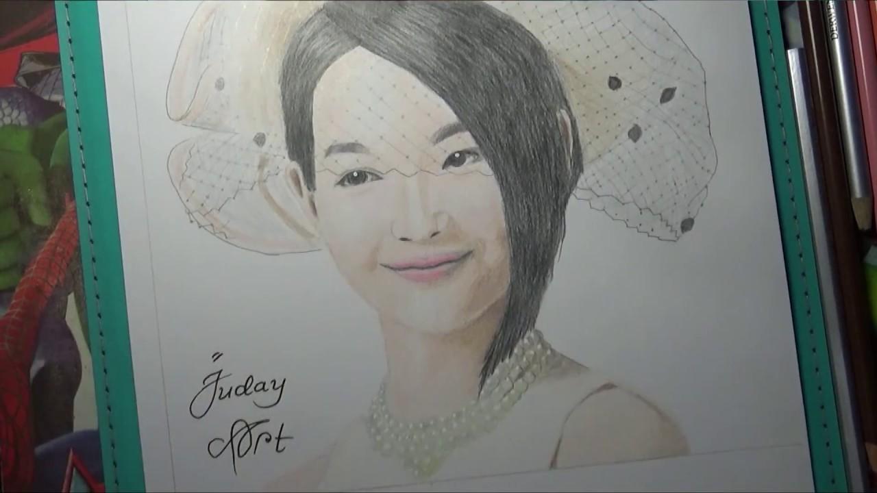 Belajar Sketsa Wajah Shin Min Ah Pemula How To Sketch Shin Min