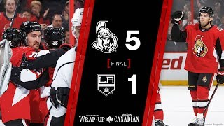 Mark Stone had a goal and Chris Wideman netted a pair as the Sens d...