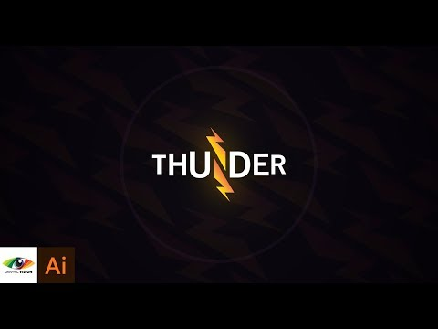 How To Design A Simple Negative Space ( THUNDER ) Logo (Adobe Illustrator)