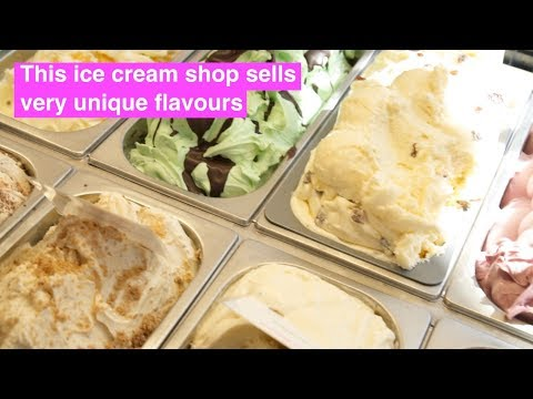 The ice cream parlour making unusual flavours