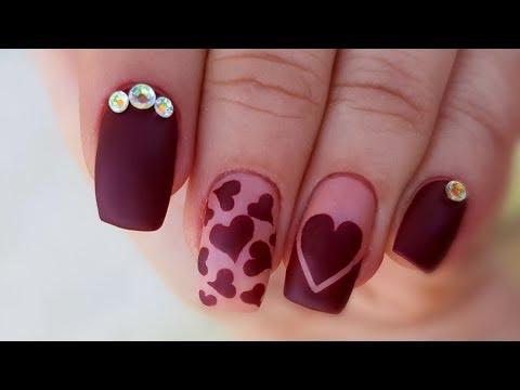 Love Nails // Red Matte Nails // Cute Manicure