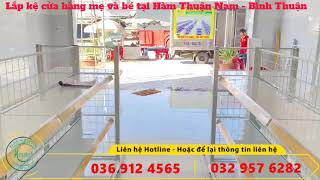 Lắp đặt kệ siêu thị cho Shop Mẹ và Bé tại Bình Thuận | Giá kệ siêu thị Hanatech 036 912 4565