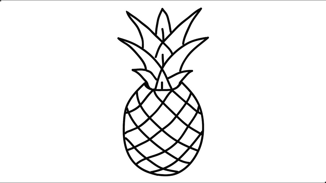 How To Draw A Pineapple Step By Step Very Easy And Fast Pineapple