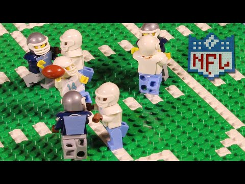 NFL: Ryan Fitzpatrick And The Miami Dolphins Upset The New England Patriots | Lego Game Highlights