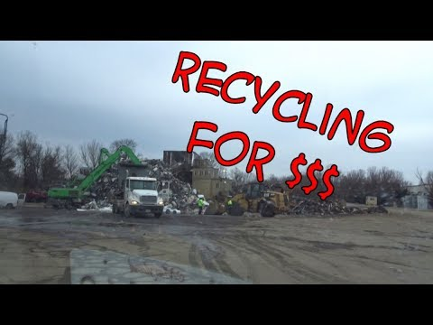 Taking metal to be recycled with Vanna