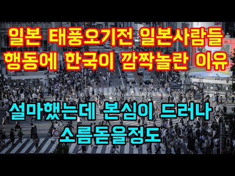 """일본 태풍오기전 일본사람들 행동에 한국이 깜짝놀란 이유 """"설마했는데 본심이 드러나 소름돋을정도"""""""
