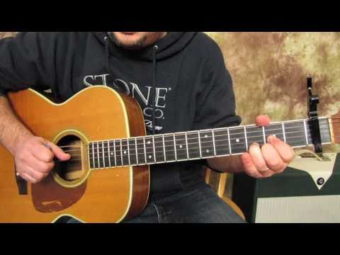 Beatles - Across the Universe - How to play on Acoustic Guitar Lesson - John Lennon