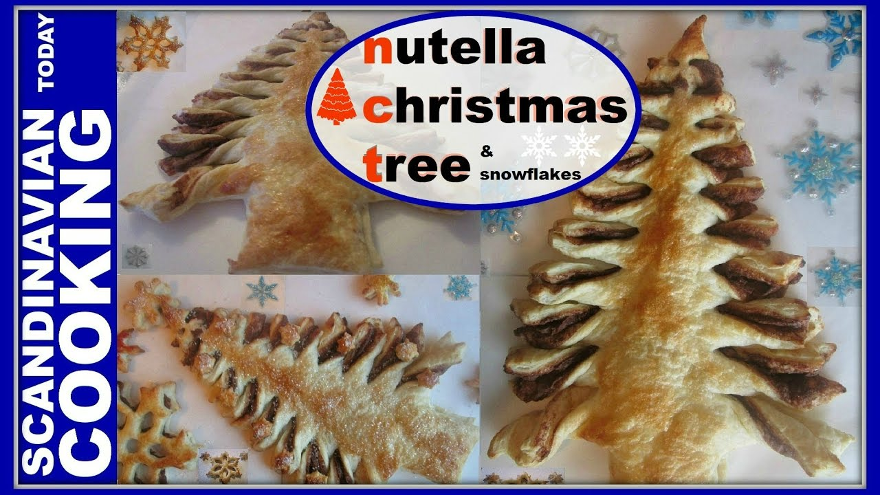 Nutella Christmas Tree.How To Make Easy Nutella Christmas Tree Puff Pastry