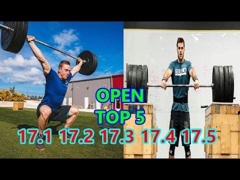TOP 5 MEN CROSSFIT OPEN - FINAL LEADERBOARD AFTER 17.1 17.2 17.3 17.4 17.5
