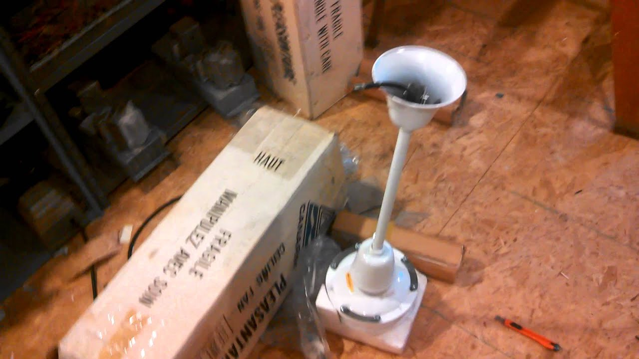 canarm pleasantaire industrial commercial ceiling fan c 1983 fan 3 mangled wires [ 1920 x 1080 Pixel ]