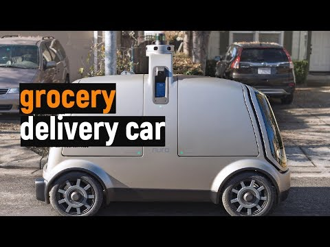 Self-driving Grocery Delivery Car NURO