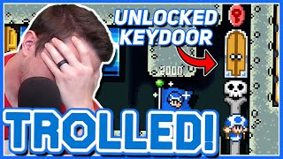 HOW DID I NOT SEE THAT?? // TROLLED // Mario Maker 2