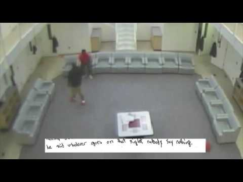Video shows former Cuyahoga County juvenile jail officer standing