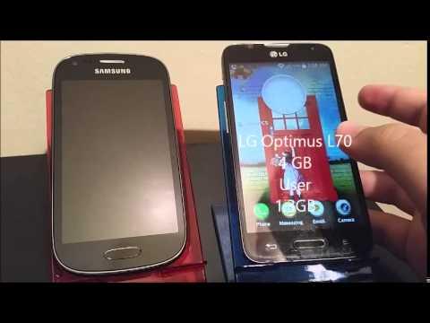Elegant MetroPCS Samsung Galaxy Light VS LG Optimus L70