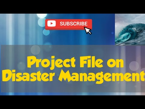 Project file on Disaster Management