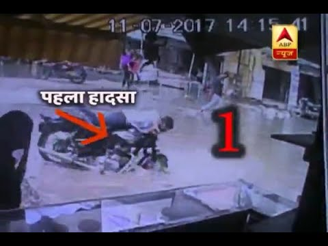Faridabad: Watch series of accidents that occur due to open manhole