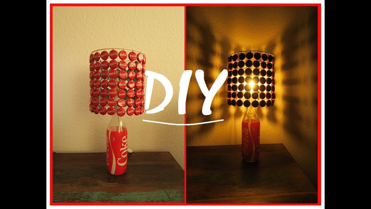 coka cola lampe bauen diy kronkorken lampenschirm howto youtube. Black Bedroom Furniture Sets. Home Design Ideas