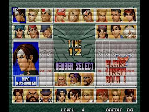 The King Of Fighters 96 Arcade Character Select Youtube