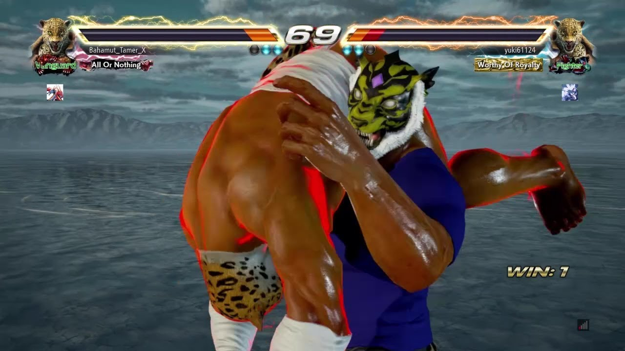 Tekken 7 Tiger Mask Vs King Youtube