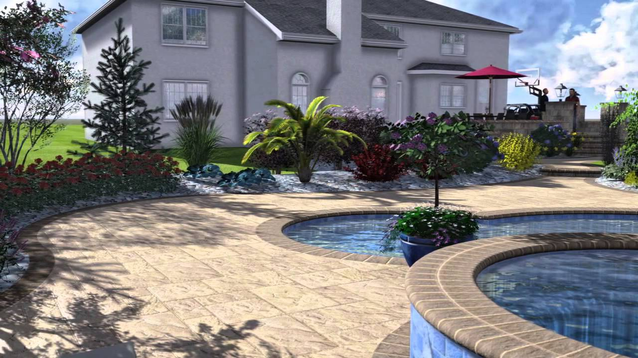 3D Pool Patio & Landscape 3D Design Monroe NJ Elite Landscapes & Pavers - 3D Pool Patio & Landscape 3D Design Monroe NJ Elite Landscapes