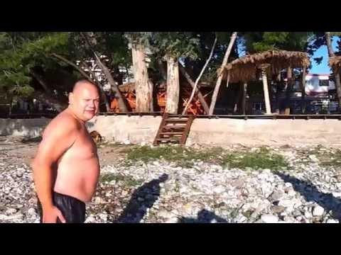 Черногория.Сезон 2015 открыт. 01.01.2015 (воздух +2, вода +12)