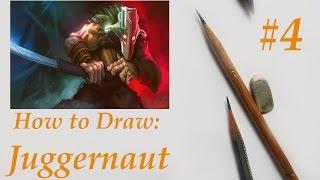 How to draw Juggernaut from Dota 2/Как нарисовать Джаггернаута Дота 2